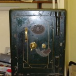 Antique safe with brass handle