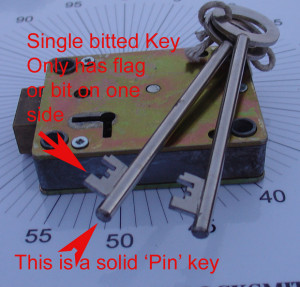 Single Bitted Pin Key