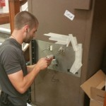 John from Alan Morgans Master Locksmiths opening a Tann TS3 10 lever safe