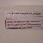 Chubb ID plate