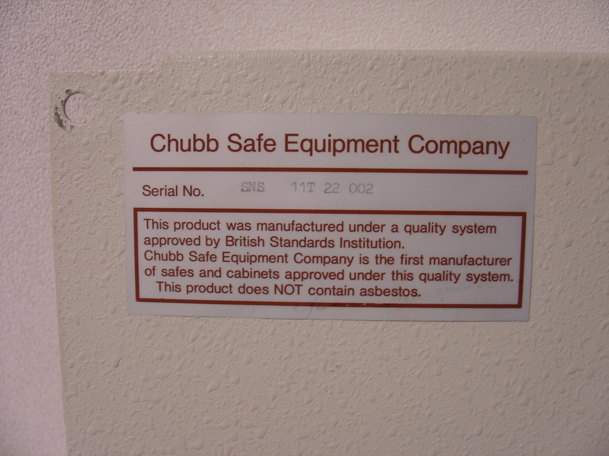 Safe Identification | Chubb Safes