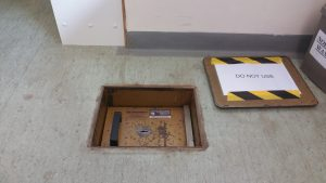 Mottura under floor safe opened by Alan Morgan Master Locksmiths