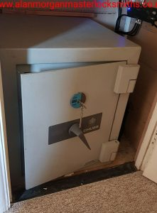 Chubb Freestanding Safe opened by Alan Morgan Master Locksmiths near Northampton