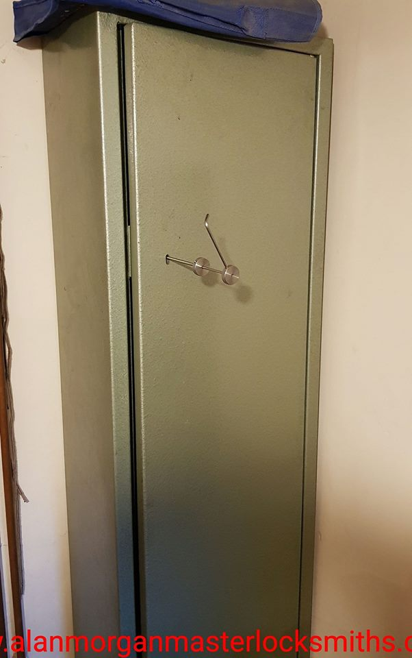 Gun Cabinet opened by Alan Morgan Master Locksmiths in Lincolnshire