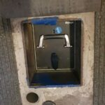 Churchill Olympic under floor safe opened by Alan Morgan Master locksmiths in Nottingham